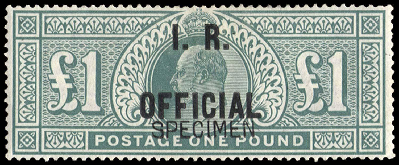 GB 1902  SGO27s Specimen
