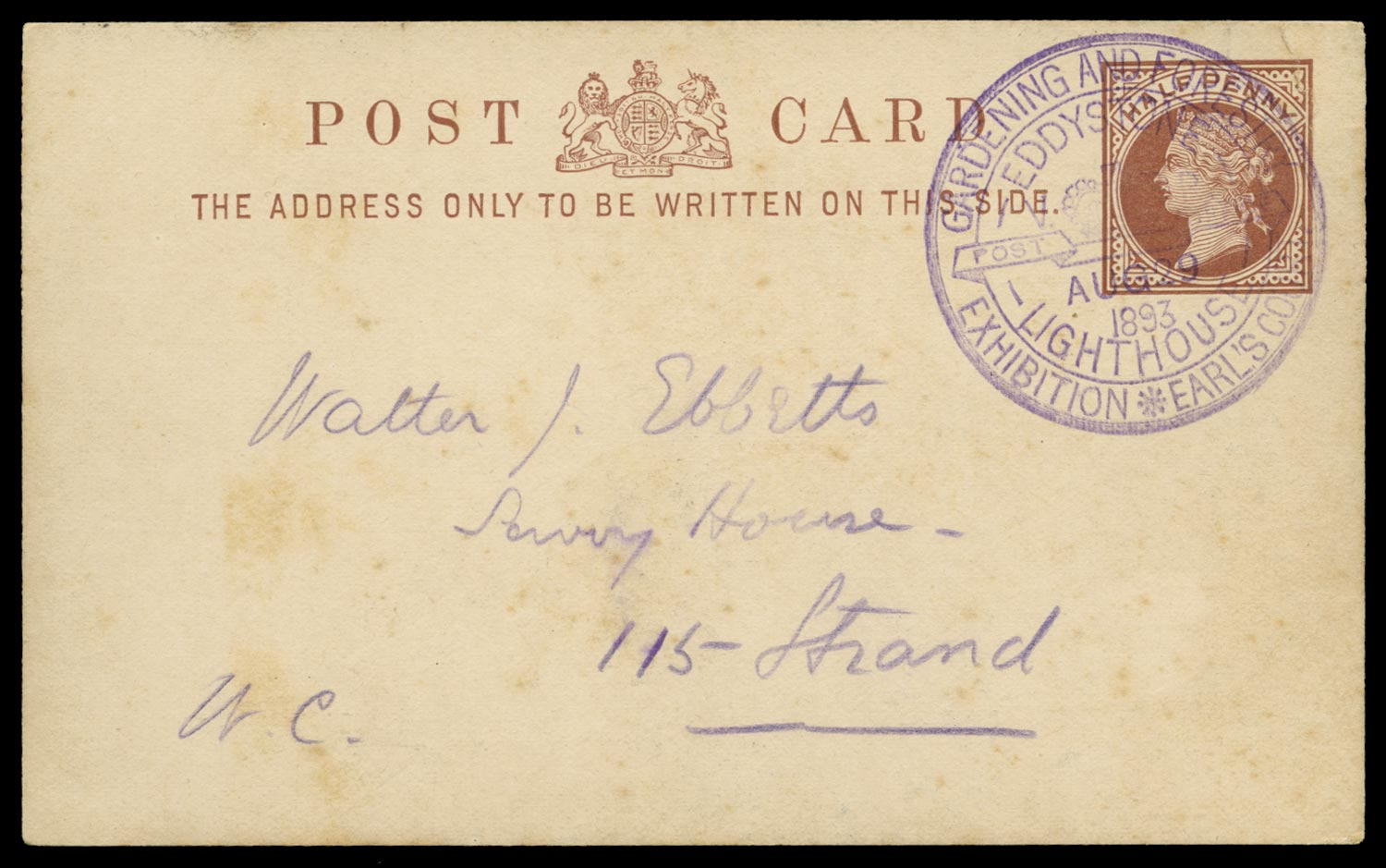 GB 1893 Postal Stationery