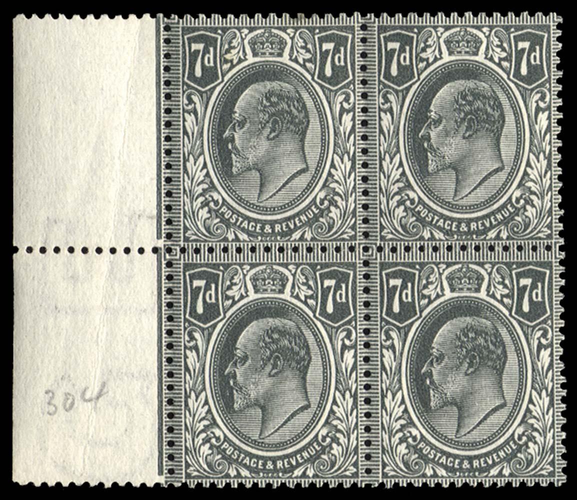 GB 1910  SG305var Mint
