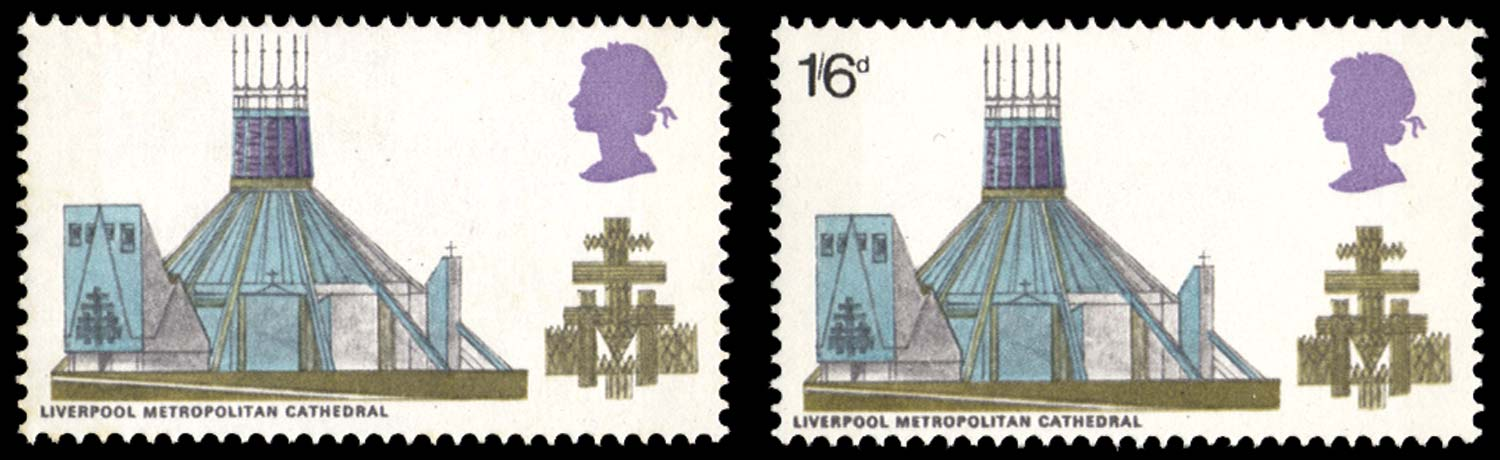 GB 1969  SG801a Mint Black omitted.