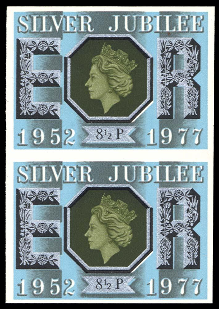 GB 1977  SG1033a Mint imperf (pair)