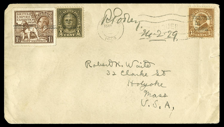 TRISTAN DA CUNHA 1929  SG. Cover