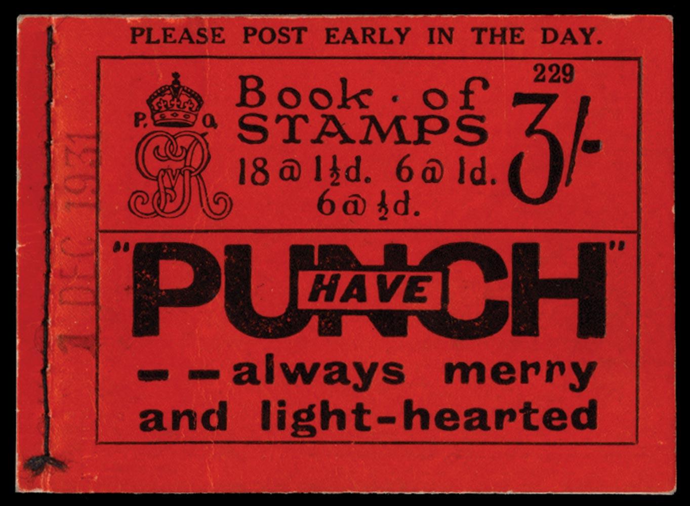 GB 1924  SGBB24var Booklet overprinted