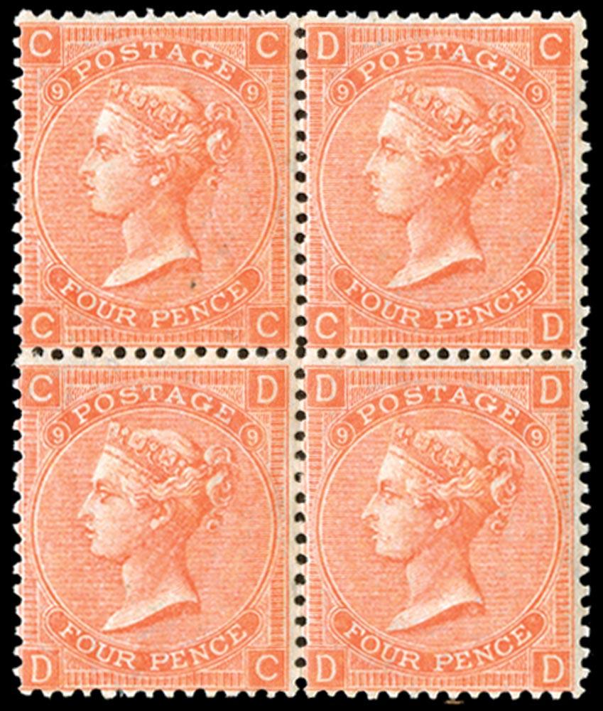 GB 1869  SG94 Pl.9 Mint