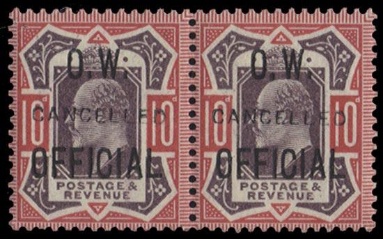 GB 1902  SGO40var Official
