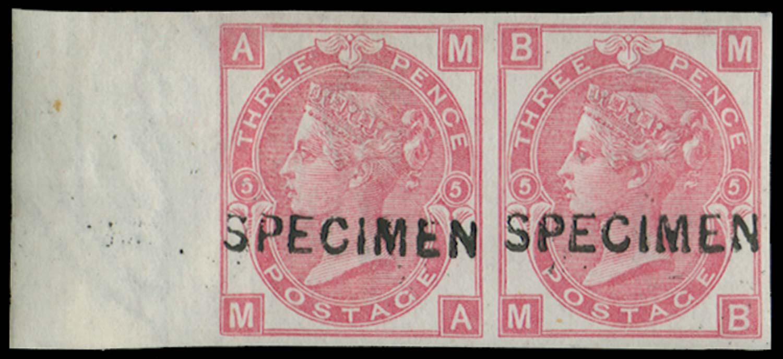 GB 1868  SG103s Pl.5 Specimen