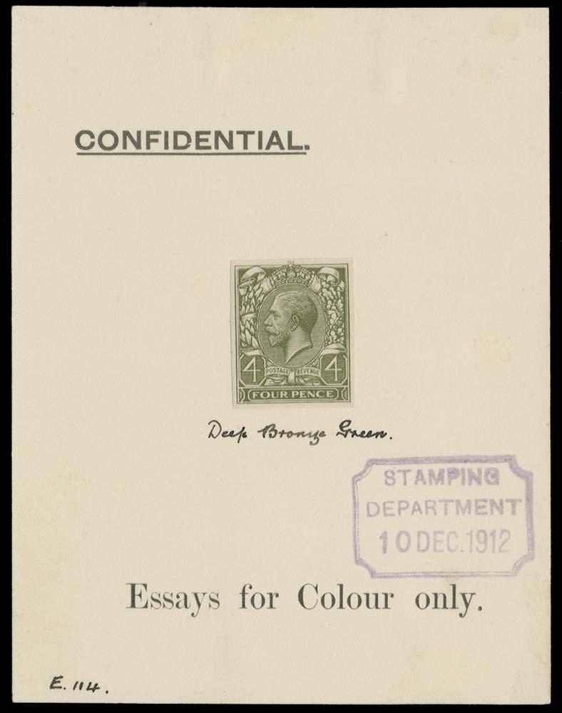 GB 1912  SG379var Mint