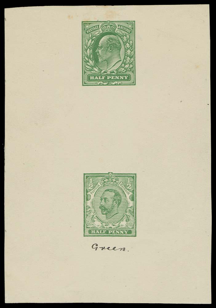 GB 1911  SG218var Colour Trial
