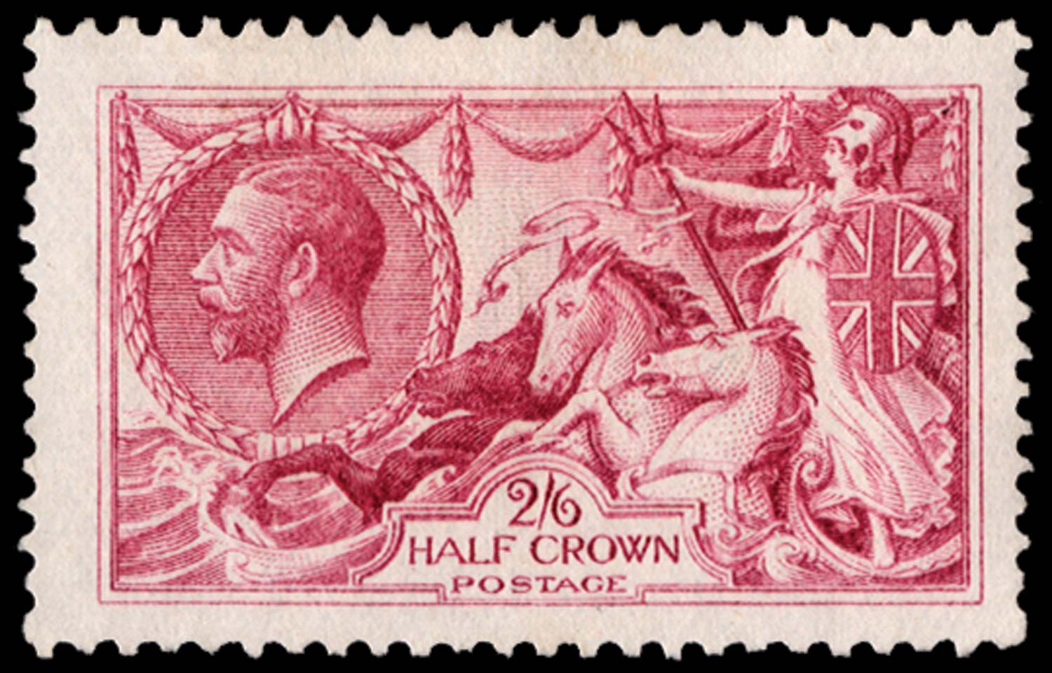 GB 1913  SG399var Colour Trial in magenta (Perforated)
