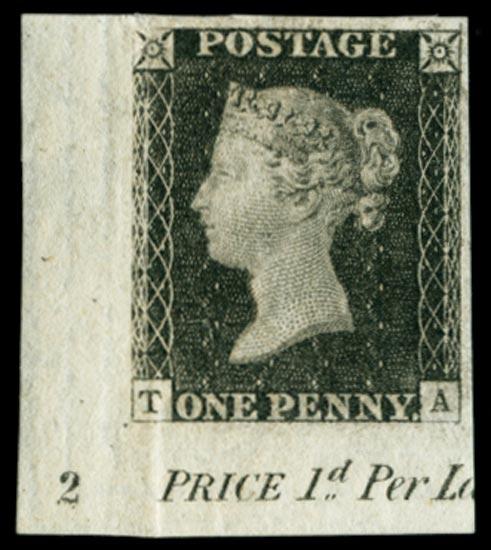 GB 1840  SG2var Penny Black