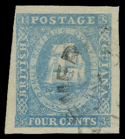BRITISH GUIANA 1853  SG20 Used
