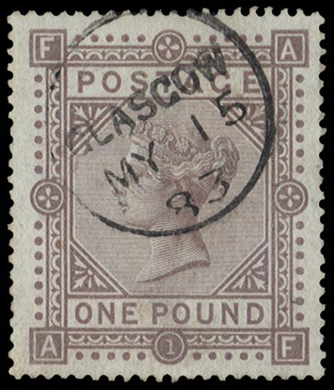 GB 1883  SG132 Pl.1 Used