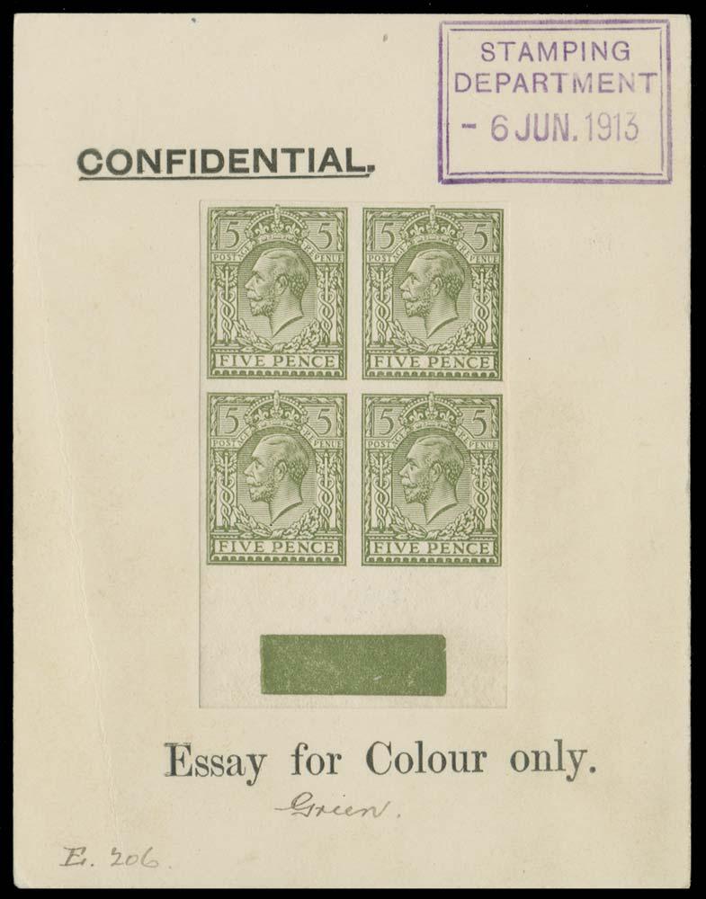 GB 1913  SG381var Mint