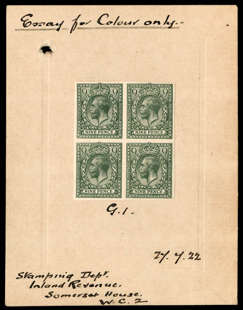 GB 1922  SG393a var Proof