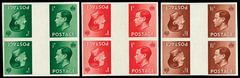 GB 1936  SG457/9var Mint
