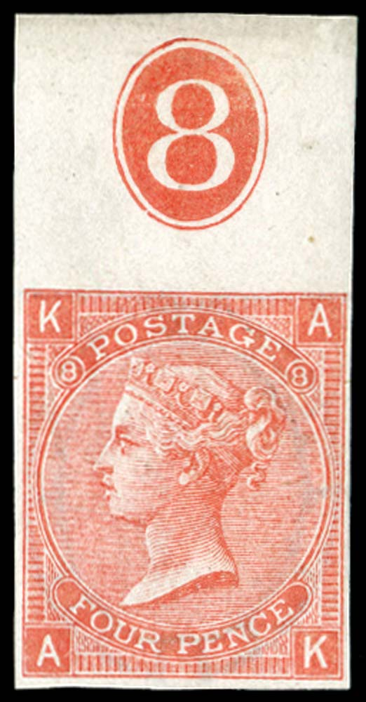 GB 1866  SG94var Pl.8 Mint