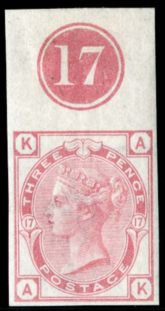 GB 1875  SG143var Pl.17 Mint