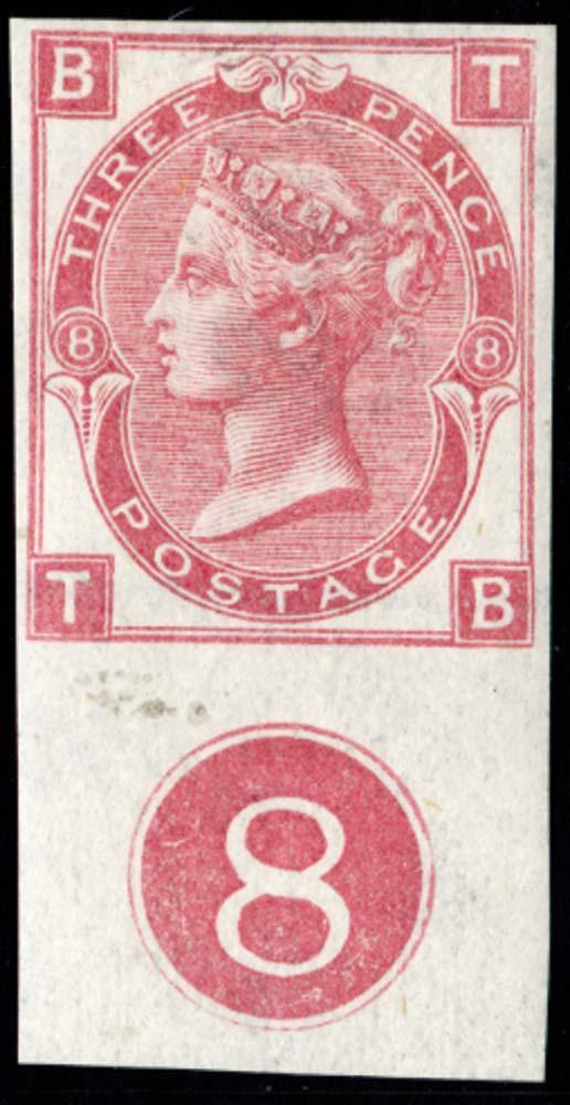 GB 1872  SG103var Pl.8 Mint