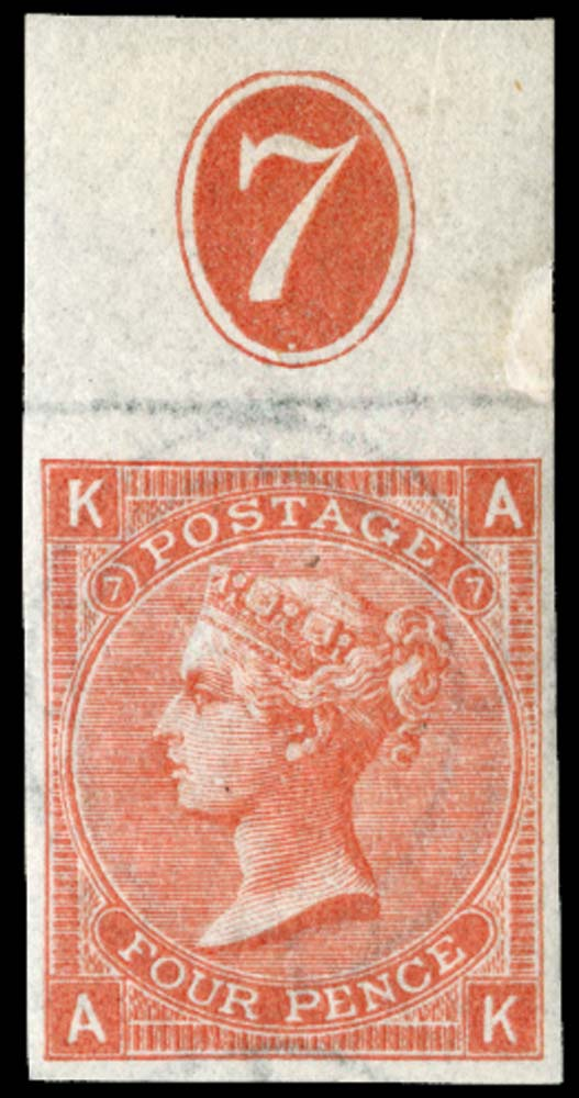 GB 1865  SG94var Pl.7 Mint