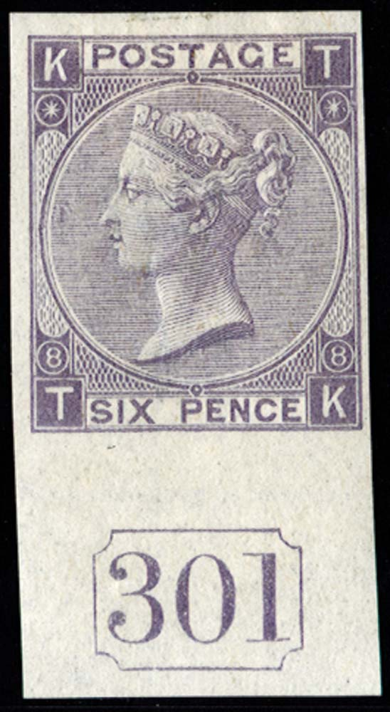 GB 1869  SG108var Pl.8 Mint