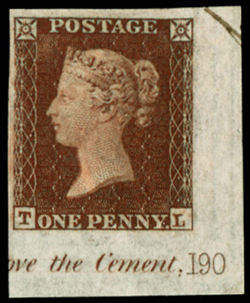 GB 1854  SG17var Pl.190 Mint