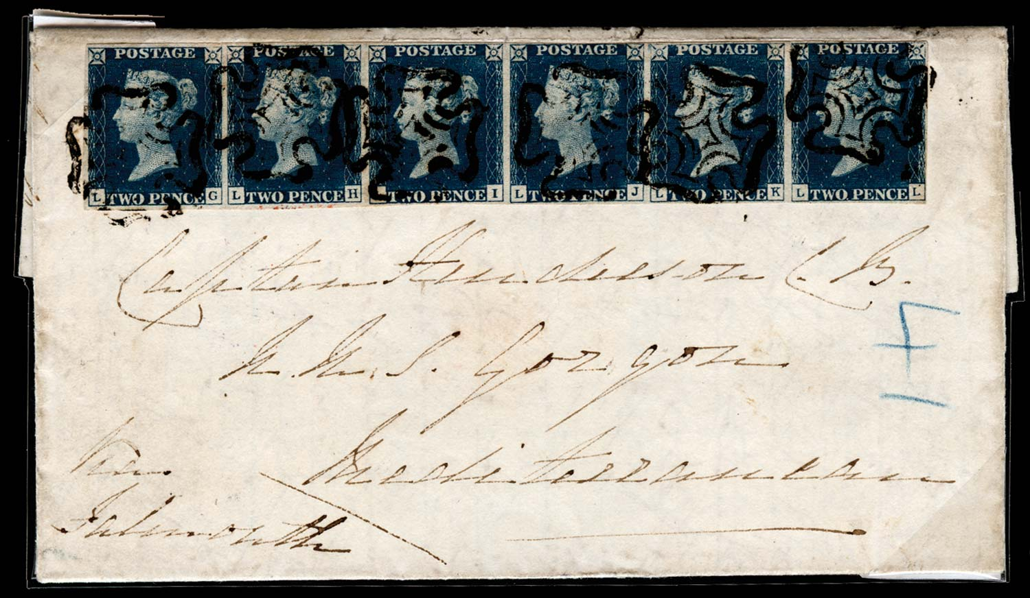 GB 1841  SG5 Cover to H.M.S. Gorgon