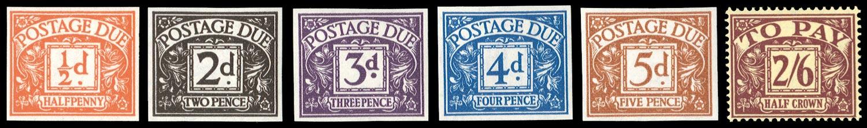 GB 1954  SGD40/45var Postage Due