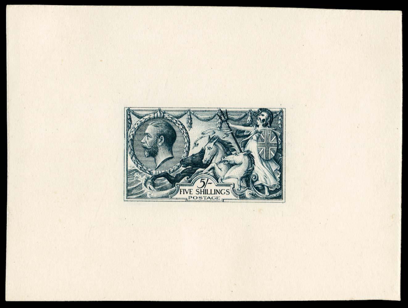 GB 1912  SG401var Die Proof state b in deep grey-blue