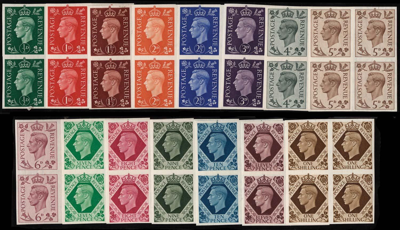 GB 1937-47  SG462/75var Mint