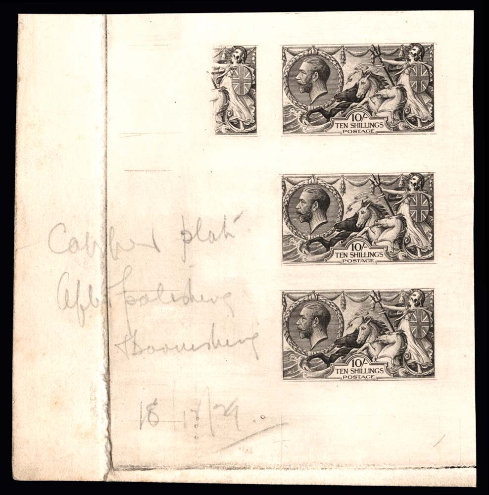 GB 1929  SG417var Proof of Experimental plate