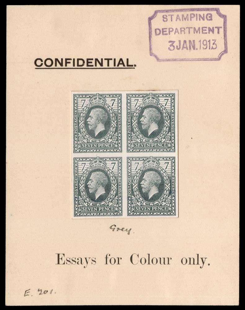 GB 1913  SG387var Mint