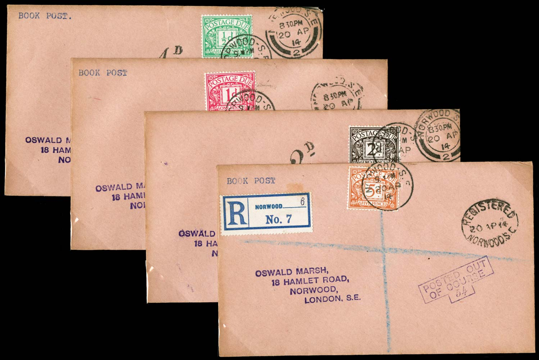 GB 1914  SGD1/7 Cover