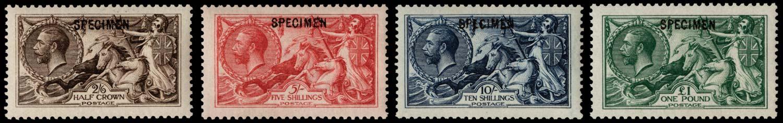 GB 1913  SG400/3s Specimen type 26 set of four