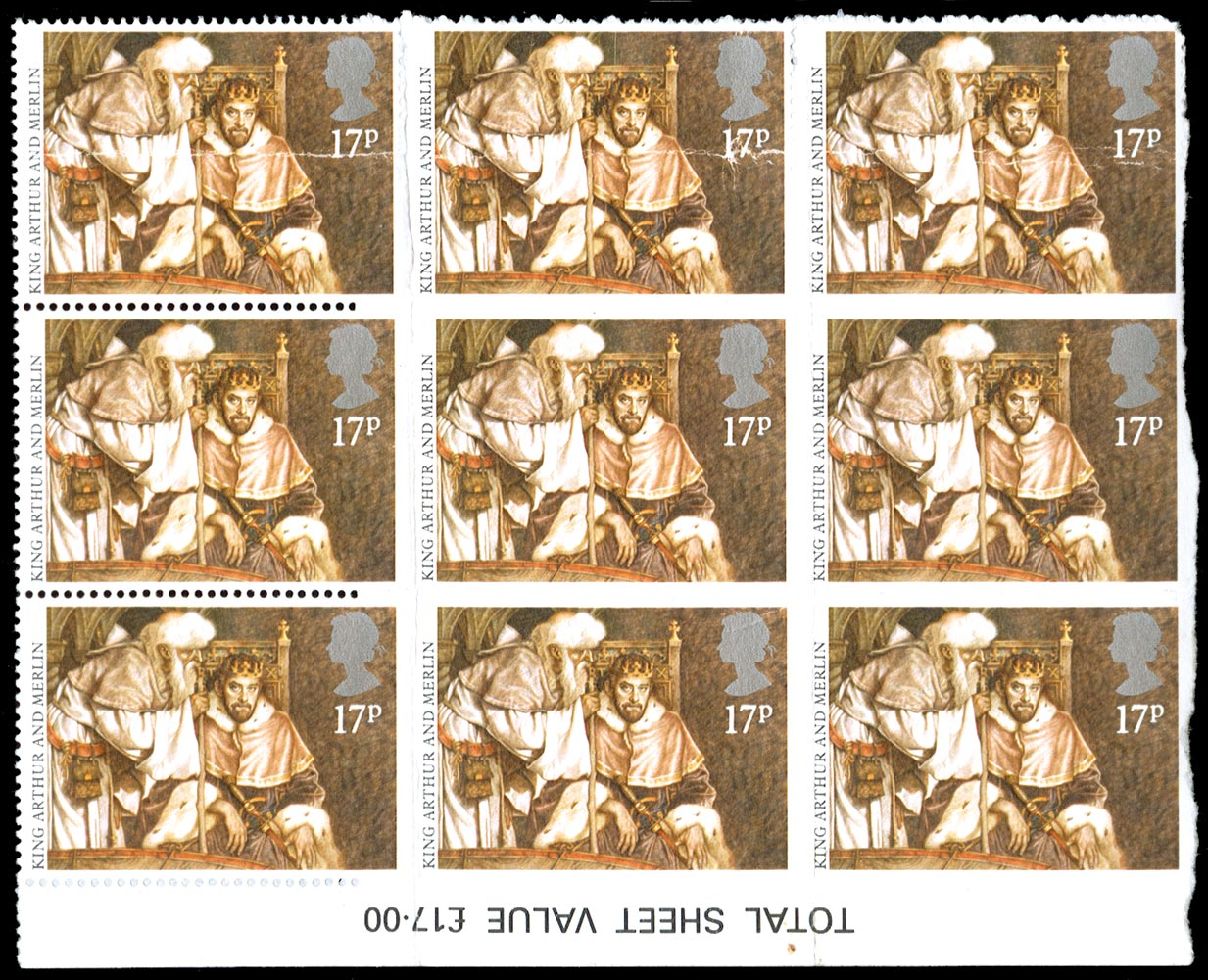 GB 1985  SG1294a Mint imperf block of four