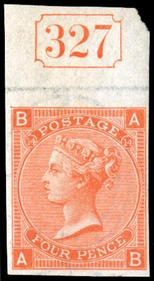 GB 1873  SG94var Pl.14 Mint
