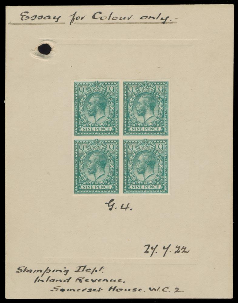 GB 1922  SG393a var Mint