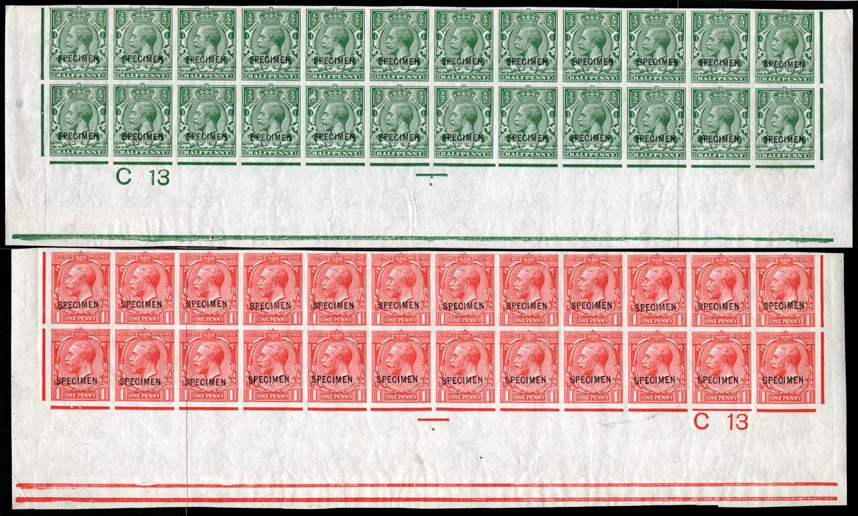 GB 1913  SG351/7var Specimen