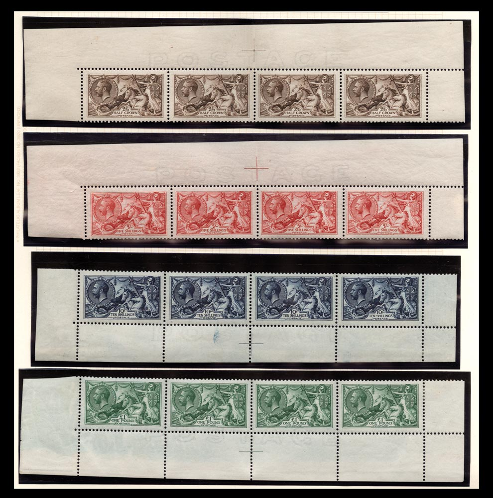 GB 1913  SG400/3 Mint set in top or bottom rows