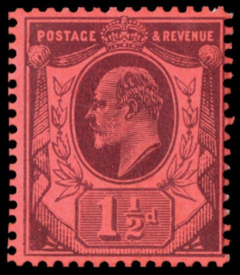GB 1909  SG221var Mint