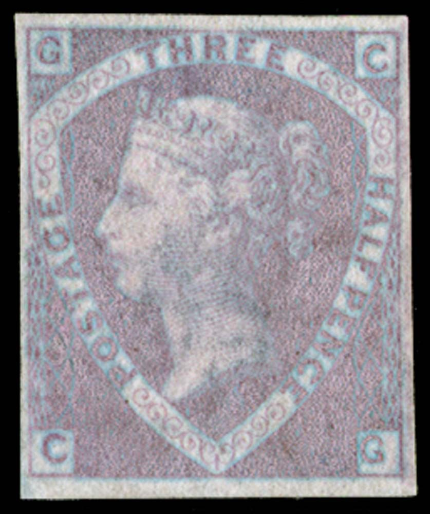GB 1860  SG53a var Pl.1 Mint