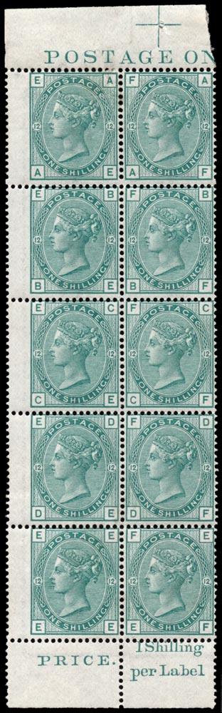GB 1875  SG150 Pl.12 Mint