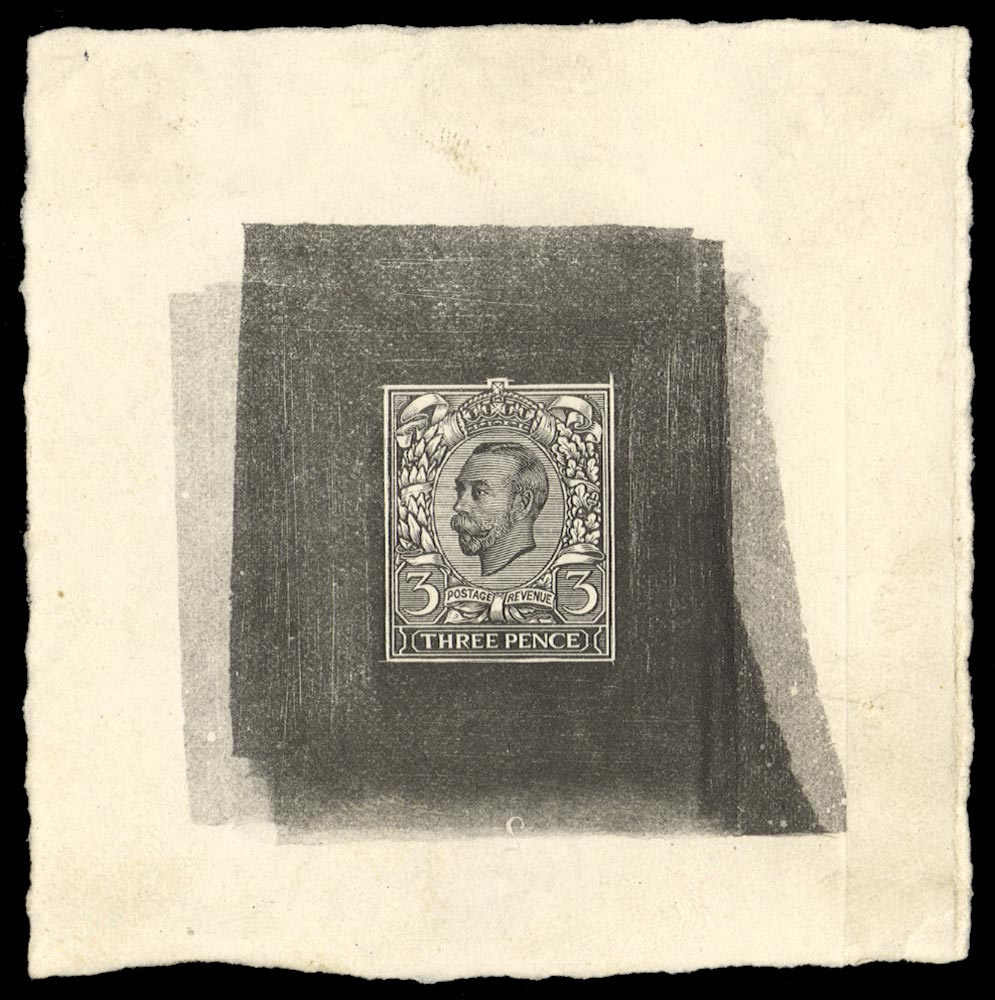 GB 1911  SG. Plate Proof - 3d Engravers Sketch Die for the unissued Value