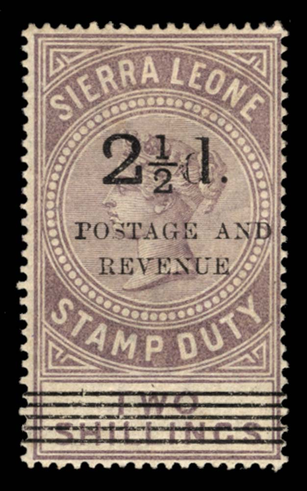 SIERRA LEONE 1897  SG67 Mint
