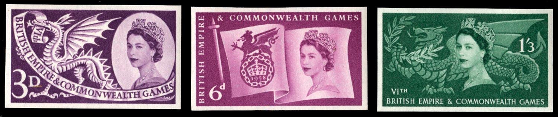 GB 1958  SG567/9var Mint