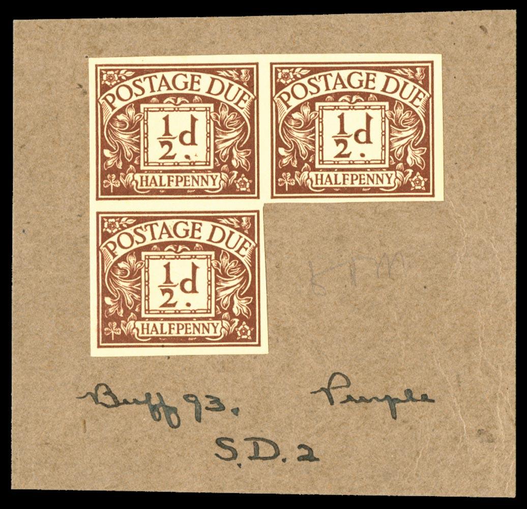 GB 1924  SGD18var Postage Due colour trial