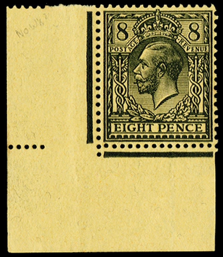 GB 1917  SG391var Mint - 'No Watermark'