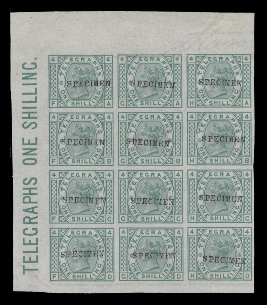 GB 1876  SGT8var Pl.4 Telegraph