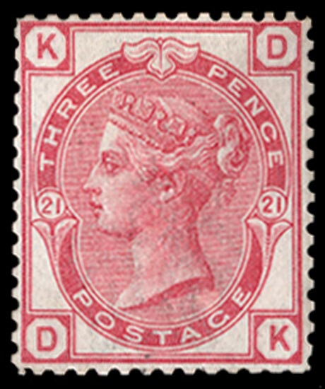 GB 1881  SG158var Pl.21 Mint