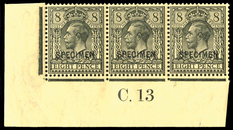 GB 1913  SG390s Specimen