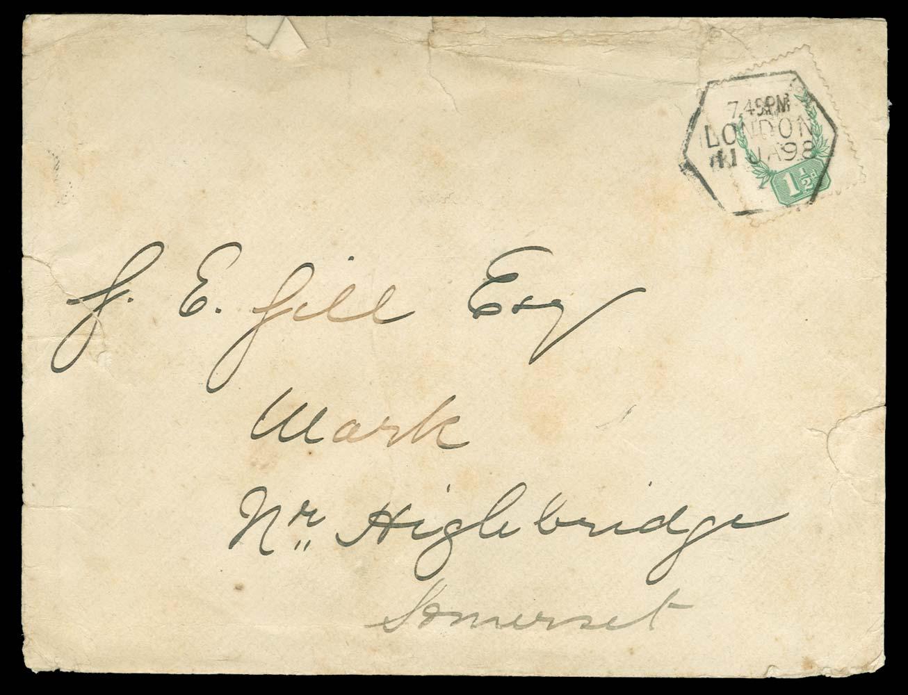 GB 1887  SG198var Cover